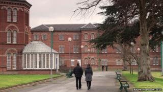 Staff walking around Broadmoor Hospital
