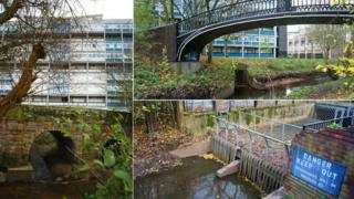 River Sherbourne entrance beneath Coventry