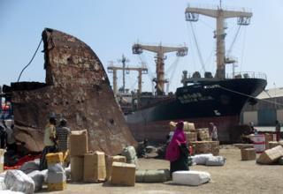 Mogadishu port
