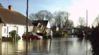 Flooding in Surrey, February 2014