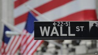 Wall Street sign in New York on 16 September 2008