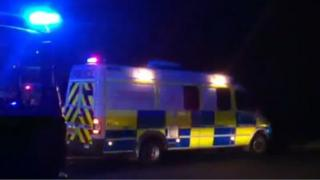Crash scene in Lyndhurst