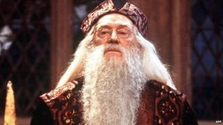 Richard Harris in character as Albus Dumbledore in the Harry Potter films