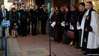 Ceremony for Cdr Norman Holbrook