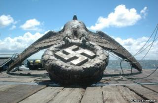 The salvaged Nazi eagle