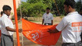 File photo of members of Hindu hardline group Bajrang Dal