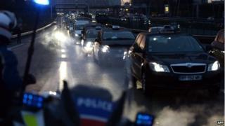 Parisien taxi drivers' strike
