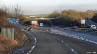 Junction 9 northbound on the M3