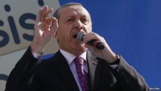 Recep Tayyip Erdogan makes a speech in Ankara, 18 November