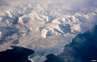 Aerial view of North Pole area