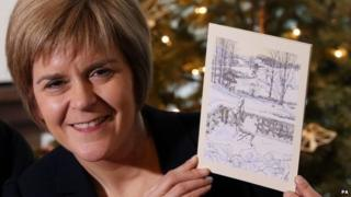 Nicola Sturgeon with her Christmas card