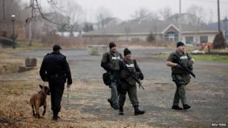 Police searched in Pennsburg, Pennsylvania. on 16 December 2014