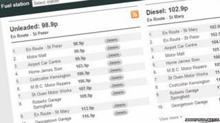 Jersey fuel watch screenshot