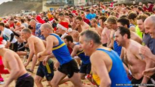 The Cromer Boxing Day Dip in Norfolk