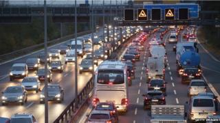 Berlin highway at dusk - file pic