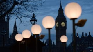 The Houses of Parliament at dawn