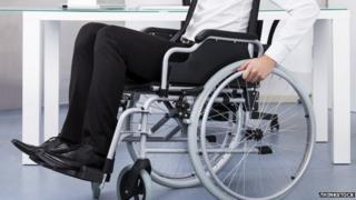 Worker in a wheelchair