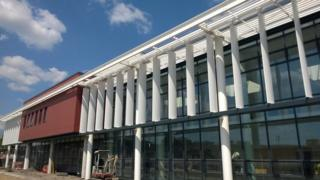 Morriston Hospital under redevelopment