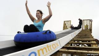 Woman riding Zoomtrax