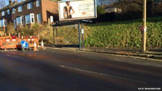 Scene of Sheffield crash