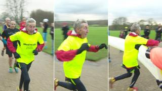 Ron finishing the race