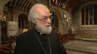 Dr Rowan Williams at St Endellion Church