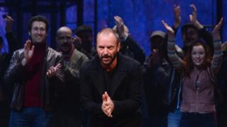 Sting taking his bows at the end of a performance of The Last Ship