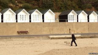 1930s beach huts at Branksome