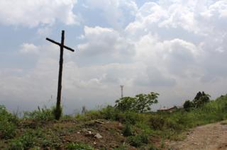 A cross on the dump