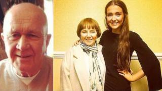 Jack Sweeney, Lorraine Sweeney with granddaughter Erin McQuade