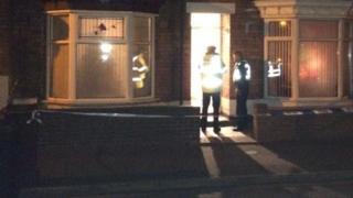 Cordoned off house in Pennell Street, Lincoln