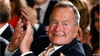 File photo of George H W Bush, July 2013
