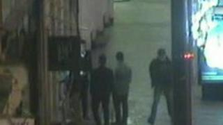 CCTV image showing Patrick Lamb in the far right of the picture in High Street, Maidstone