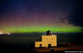 Northern Lights seen from Bamburgh