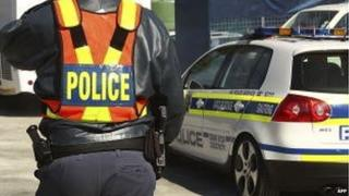 A policeman in Johannesburg, South Africa (September 2010)