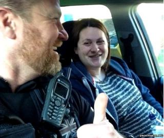 Woman in labour is escorted to hospital by Northamptonshire Police