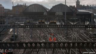 Work on tracks near King's Cross station