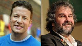 Jamie Oliver and Peter Jackson