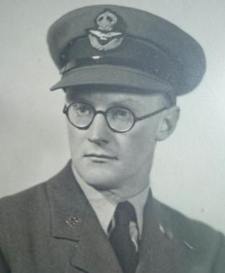 Edward Barlow in his RAF uniform