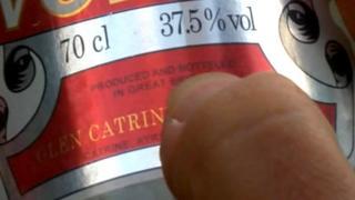 Fake vodka label
