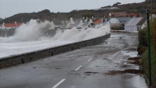 Storms hit Guernsey's west coast in January 2014
