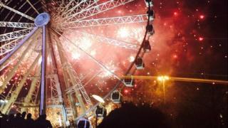 Manchester fireworks