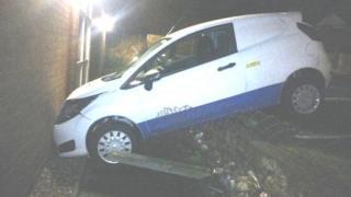 Frodsham Police station crash