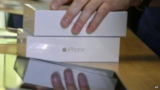 Apple iPhones in store