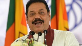 Sri Lankan president, Mahinda Rajapakse
