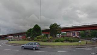 Etruria Road flyover, Stoke-on-Trent