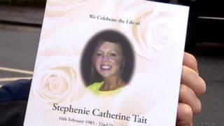 Order of service for Stephenie Tait