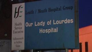 Our Lady of Lourdes Hospital, Drogheda, sign