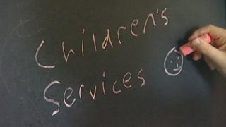 Children's services sign