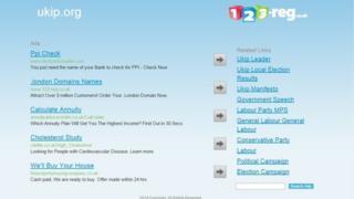 Screengrab of UKIP.org
